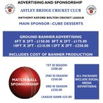 Advertising and Sponsorship Opportunities available at @AstleybridgeCC #bolton https://t.co/TusbTUgIo6