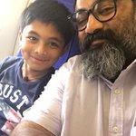 my son and me @chennai to watch #24TheMovie 🙂🙂🙂 https://t.co/0DevoU71sL