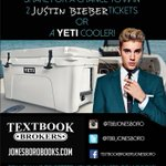 RT&FAV for a chance to WIN Justin Bieber Tix OR a Yeti! Winner announced 5/11! #TextbookBrokers #JustinBieber #Yeti https://t.co/hbxj0ox6vO