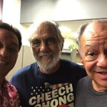 I found these guys wondering around the studio today. #cheechandchong https://t.co/knobdYXNCj https://t.co/kgb5XfebgS