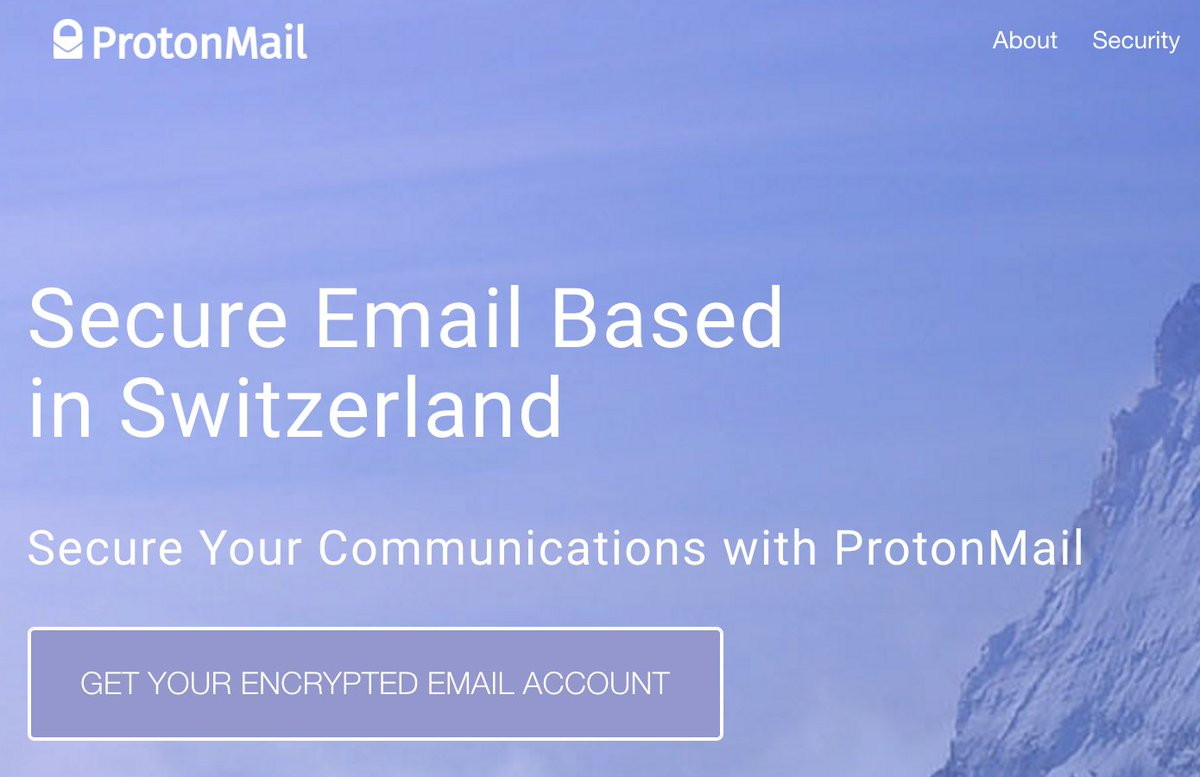 I just learned about @ProtonMail, created an account, what a great idea: https://t.co/o9cuKdTjYU https://t.co/Emt1b2xMyw