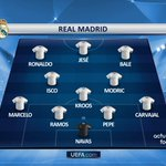 Le onze du Real Madrid ce soir. #RMAMCI https://t.co/5j03nlLR3o