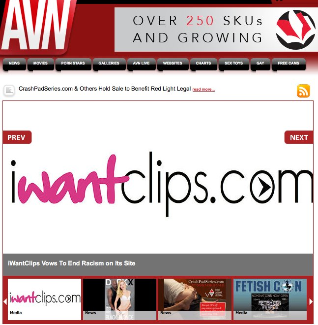 Thank you @AdultVideoNews for top coverage of our vow to end racism on our site! https://t.co/zfw5zOQLg1
