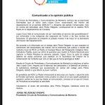 Rechazamos a través de este comunicado las acusaciones del señor Jairo López Covo contra el colega @jperezdelgado https://t.co/XN9S7xfP9D