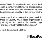 .@Beyonce releases statement on North Carolinas anti-LGBT law https://t.co/w9Q3GQBFB5