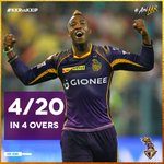 The star of the match! Take a bow @Russell12A, you are a true #Knight. #AmiKKR #KKRvKXIP https://t.co/iOnqQY3oKt