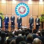 Pdte @JuanManSantos hace la toma de juramento a @SJorgeLondono como @MinjusticiaCo en el auditorio de @ustatunja https://t.co/jzeAgQGJS3