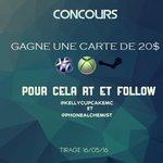 CONCOURS Gagne une carte de 20€ ! ( PSN / XBOX / STEAM ) RT + Follow moi et @phonealchemist Tirage le 16/05/16 https://t.co/D2TEWH1MlQ