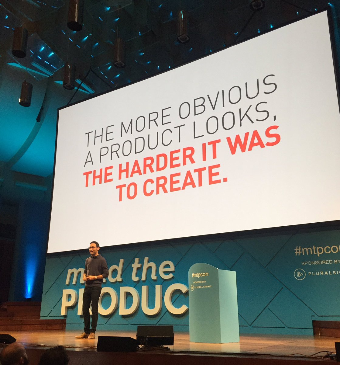 """The more obvious a product looks, the harder it was to create."" @scottbelsky at #mtpcon https://t.co/jD1MSudtuP"