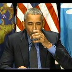 """""""Generally I havent been doing stunts but here you go,"""" said the Pres, taking a sip of filtered water from Flint. https://t.co/IiGblj8fJU"""