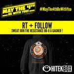 Dernière chance pour RT & Follow Et gagner un sweat BB-8 ! Tirage demain à 10h45 ! #MayThe4thBeWithYou #Hitekbox https://t.co/s6935i5sdC