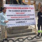Hoy el @GMSBadajoz ha apoyado a Pedro, extrabajador mpal, que quiere ser readmitido en Ayto por despido improcedente https://t.co/lM5avyOp4A