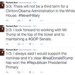 Senator Richard Burr, facing reelection in North Carolina, jumps on the #TrumpTrain. https://t.co/c8qfAY5NIx