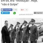 """Marcos Coimbra: em 64 diziam que era """"Revolução"""". Agora, que """"não é golpe"""". Mas golpe é sempre golpe! https://t.co/ZkjfbC4Hkm"""