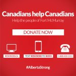 Canada stands with Alberta! #AlbertaStrong #FortMacFire @Redcrosscanada https://t.co/FQgWt5Q6rM