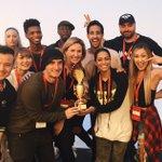 We WON @RachaelRays AWARD for Most Creative Taco !! ❤️🌮 @laurDIY @AlexWassabi @IISuperwomanII @kingsleyyy 🙏🏼 https://t.co/41oB7PF5N9