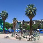 Water slides are @UofA s answer to @TheTucsonHeat s 100F attempt. https://t.co/K7lbuCANla https://t.co/vYP8YlmewM