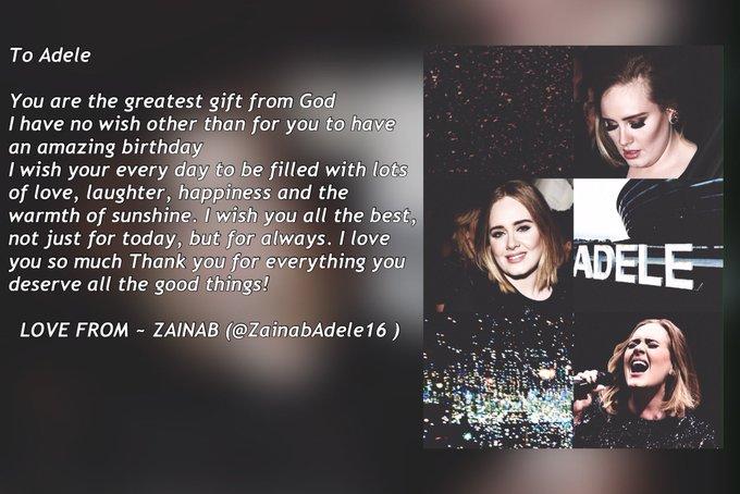 It\s May 5th here so... Happy Birthday Adele
