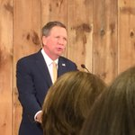 "John Kasich says ""we all need to slow down our lives and listen."" @wkyc https://t.co/OP2euKbSdd"