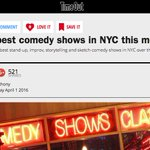 """Super Free Wednesday is one of @TimeOutNewYorks """"best comedy shows in NYC"""" + its 2NITE!! #free #nyc #comedy https://t.co/ELi4Y3Tt1Y"""