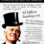 NUS #Brisbane respond #budget2016. Cuts to uni + partial fee dereg. Budget response rally happening May 11 #auspol https://t.co/GCFTq29s7t