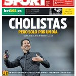 Cholistas, pero solo por un día La portada de @sport https://t.co/OiibpfhPgJ