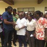 John Dumelo donates six   maths set, chalk and pens  as part of his Volta region tour. #ndccampaign #mahamafanatic https://t.co/NSo7JMVsXv