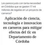 En NOV/2014 advertí sobre derroche de regalías Córdoba y expresé preocupación. Hoy el tiempo me da la razón. https://t.co/lgu2DjSI3r