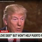 """Trump tells millions of Puerto Rican voters """"I wont help Puerto Rico"""" but bankruptcy OK for billionaire developers https://t.co/8bfH2zrc1g"""