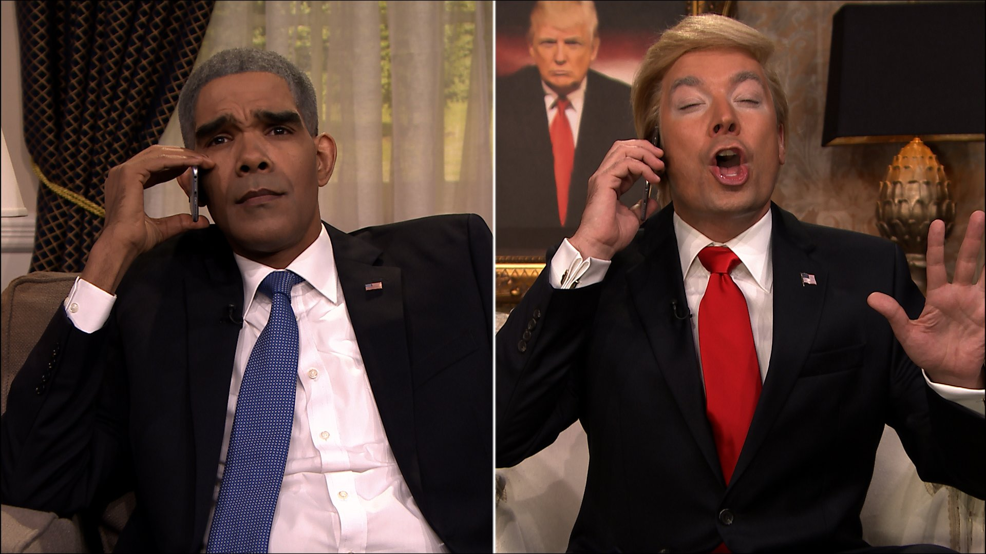 Donald Trump just called President Obama, and we got footage of it. Tune in tonight! #DonaldWithTheGoodHair https://t.co/W0X4gZYCpA
