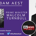 Catch the PM @TurnbullMalcolm speaking with @David_Speers from 10am AEST #auspol https://t.co/E03VH1bgXl