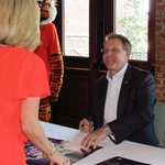 Gus Malzahn signs autographs at the West Georgia Auburn Club in LaGrange, the first stop on this years Tiger Trek https://t.co/edQrhXCzcv