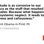Obama says Flint water crisis in a symptom of ideology that undervalues public goods. https://t.co/5QxmUiODlW https://t.co/KMOy2W2dh9
