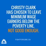 .@christyclarkbc has missed a chance to do right by workers. We must keep up the #fightfor15bc #bcpoli #unions https://t.co/9EZbbCFnH7