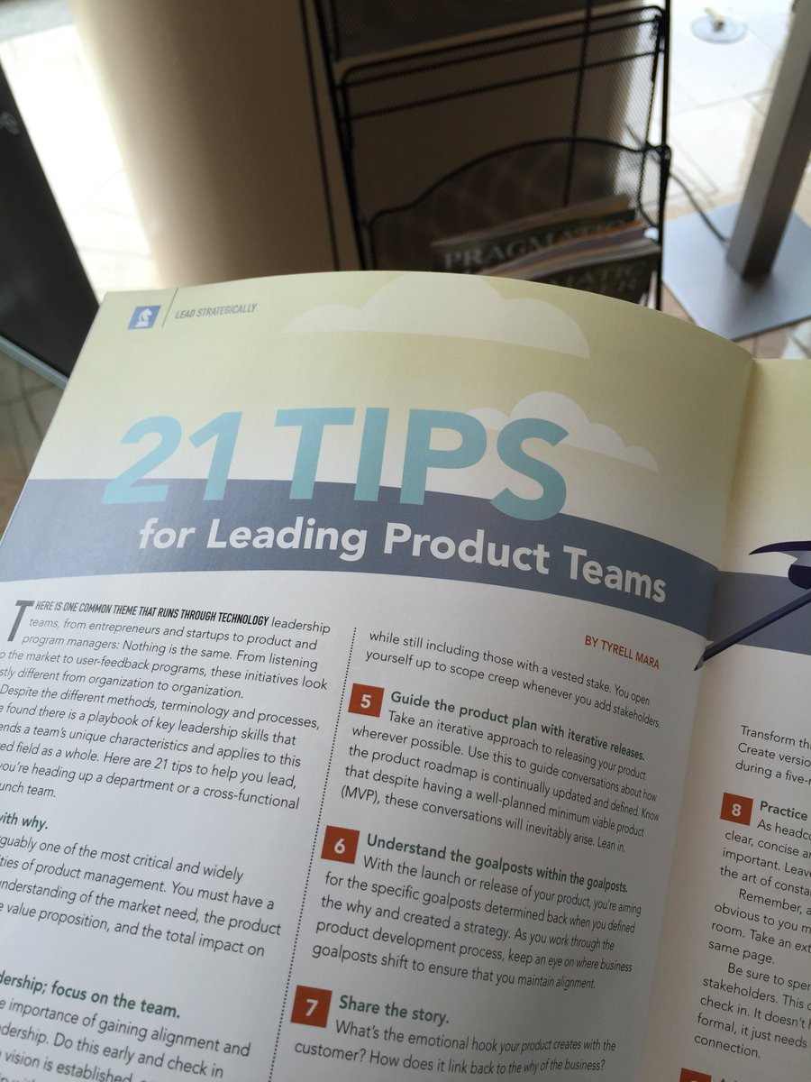 Good timing for my first @pragmaticmkting article  on leading product teams in the #mtpcon featured magazine. https://t.co/0YUYM9P2Sh