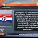El @PRD_Panama_ emitió comunicado donde exige al Gobierno cumplir con las promesas de campaña hechas https://t.co/RJrLBoiAmi