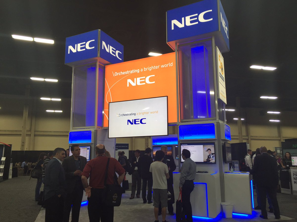 Pictures from the NEC booth 451 at #Interop. Come see our #SDN demo in action! https://t.co/tCRLoG04JS