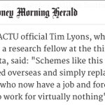 Me in the SMH today on these absurd *internships* from the budget. https://t.co/k8NJNPCnus