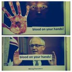 Placards for todays speak-out at Dept #immigration - blood on your hands #auspol @PeterDutton_MP @TurnbullMalcolm https://t.co/OrpX6WXIaU