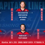 Lets try that again... #Caps lineup for tonights Game Four against the Penguins. Sorry Nate. #CapsPens #RockTheRed https://t.co/WHJ5iYzOmV