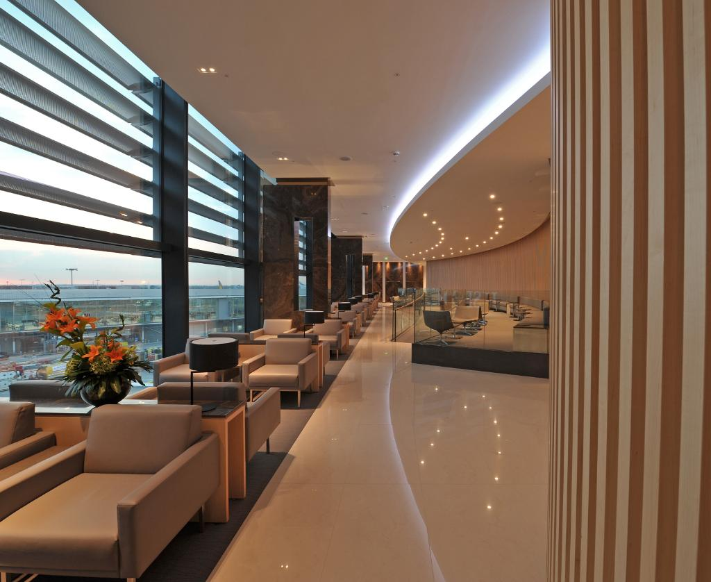 The LHR's Queen's Terminal Maple Leaf Lounge offers luxe amenities & dedicated quiet zones