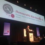 Hon Kim Beazley AC takes the stage at #pwcbudget https://t.co/a1FIWp1aL4
