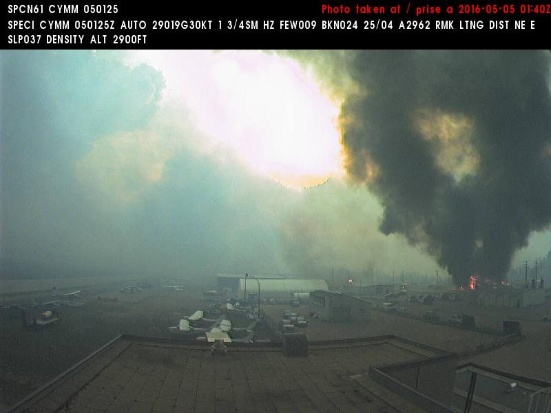 """Looks very bad --> """"@BC_Iconoclast: At 7:40 pm the airport webcam seems to show the airport is burning #FortMacFire https://t.co/MEbgZEUI47"""""""