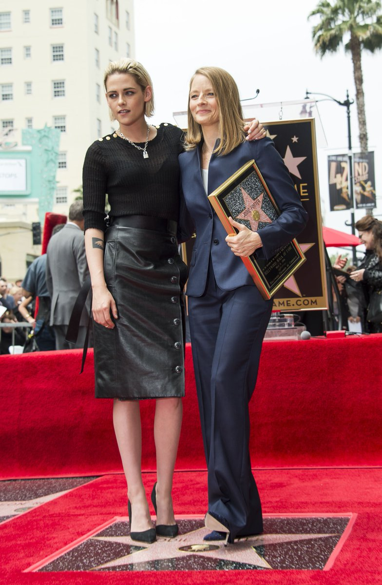 Kristen Stewart has honoured pal Jodie Foster as she gets her Hollywood star, calling her 'a baller on every level' https://t.co/G7AX9da3N3