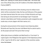 MAY 5 2016 ©PHIL NEWS BY ED UMBAO ONE OF THE REASONS WHY ALDUB MOVIE SET TO SHOOT IN ITALY! #ALDUB42ndWeeksary https://t.co/cfgph5bXNb