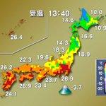 【広い範囲で夏日に】高気圧に覆われて西日本と東日本では広範囲で晴れて気温が上がり、25度以上の夏日になっているところがあります。熱中症にご注意を。 https://t.co/9ZSpNZINqi https://t.co/VQXY1EyIt8