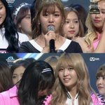 Happy tears from TWICE as they bring home #1 trophy frm MCountdown tonight ???? #CheerUp1stWin #Twice1stWin @JYPETWICE https://t.co/ANSMrsTqUO