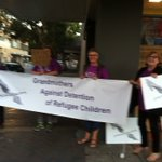 Newcastle grandmothers against Detention of Refugee Children at weekly vigil. #Auspol #lovemakesaway https://t.co/LrWFKTA6n0