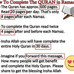 """""""How to Complete the QURAN in Ramadan"""" share it as far as you can!!! Ramadan is coming. dont stop this???? https://t.co/w1WYVOyYgE"""
