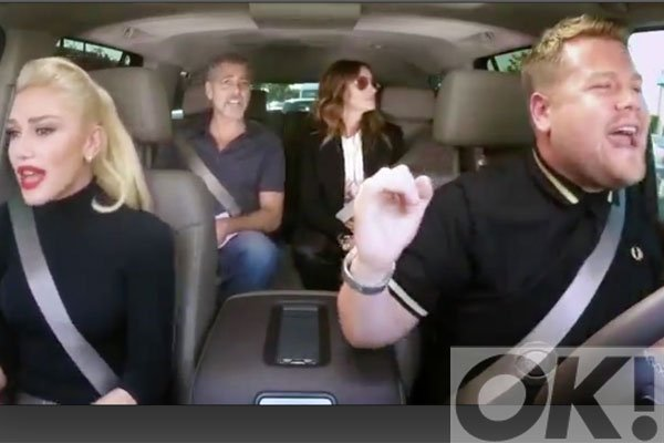 Watch @gwenstefani, George Clooney, Julia Roberts and @JKCorden sing Hollaback Girl:
